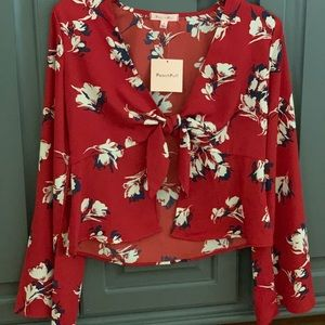 BRAND NEW floral blouse